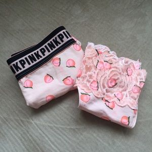 🍑 NWT Victoria's Secret PINK Peach Panties Bundle